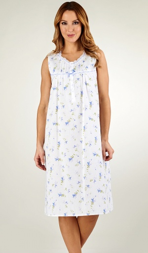 Slenderella Cotton Sleeveless Floral Nightdress