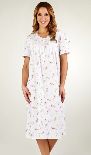 Slenderella Cotton Short Sleeve Floral Nightdress
