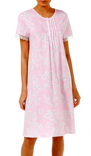 Slenderella Cotton Jersey Short Sleeve Nightdress