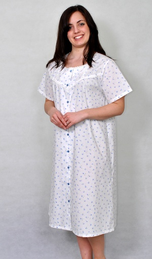 Slenderella Poly Cotton Button Through Nightdress