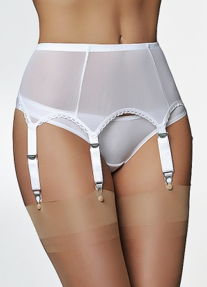6 Strap Power Mesh Suspender belt