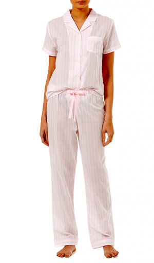 Slenderella Pure Cotton Candy Floss Stripe Pyjama