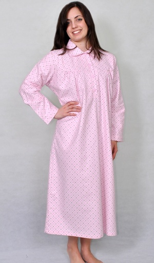 Pure Brushed Cotton Collared Nightdress