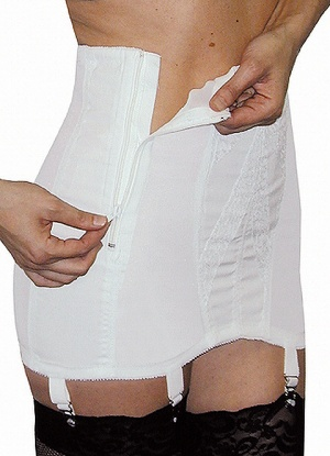 Rago 16'' Open Girdle with Side Zip