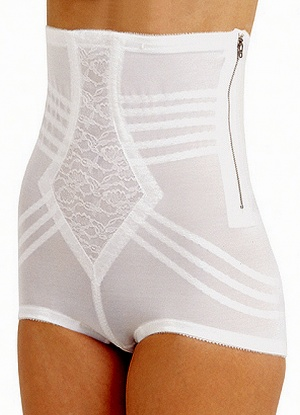 Rago High Waist Panty Girdle with Side Opening
