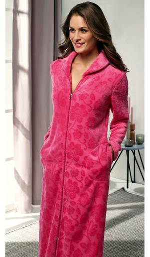 Taubert Luxury Rose Jaquard  Zip Housecoat