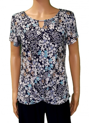 Florri Short Sleeve Key Hole Top