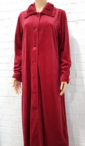 Taubert Luxury Cotton Rich Velour Long Housecoat