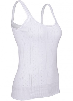 S.k Products Women's Camisole White Black (Pack of Two) 17Hills Set of 5 Premium Spaghetti Camisole Vest Top Inner Wear Camis with Adjustable and Detachable Strap (Free 2 Pair Transparent Strap) for Women and Girls.
