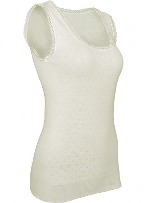 White Swan Sleeveless Wool Vest