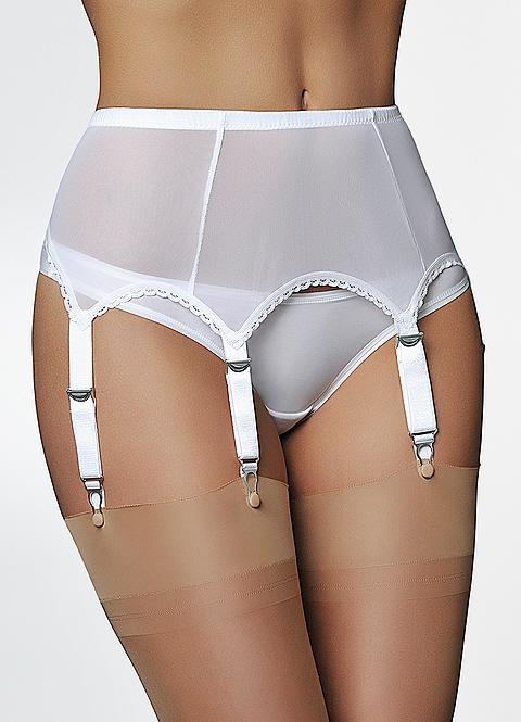 9aaf37f0245 6 Strap Power Mesh Suspender belt - Suzanne Charles