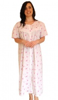 Button Through Embroiderey Trim Nightdress