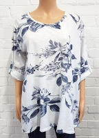 Minx Floral Print Swing Top with Scarf