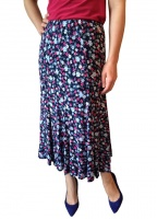 Floral Print 8 Panel Lined Skirt