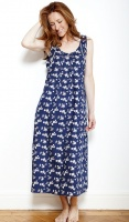 Nora Rose Blue Floral Long Nightdress