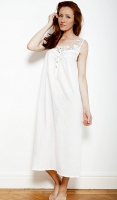 Nora Rose Cream Bobble And Lace Nightdress 358276171
