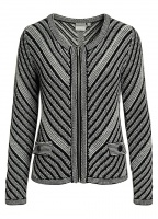 Signature Stripe Detail Zip Cardigan