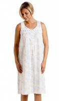 La Marquise Cotton Rich Floral Sleeveless Nightdress