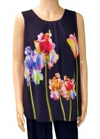 Florri Sleeveless Tulip Navy Top