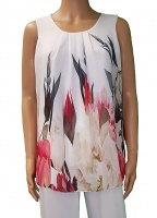Florri Sleeveless Tulip Ivory Top