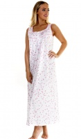 La Marquise Cotton Rich Sleeveless Long Floral Nightdress