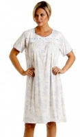 La Marquise Cotton Rich Floral Short Sleeve Nightdress