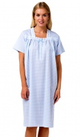 La Marquise Check Pure Cotton Short Sleeve Nightdress
