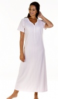 La Marquise Stripe Cotton Rich Full Length Nightdress
