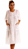 La Marquise Poly Cotton Button Through Nightdress