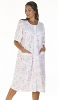 La Marquise Cotton Rich Versailles Button Through Nightdress