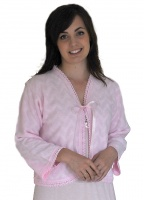 Lux Lux Edge To Edge Front Tie Bed Jacket