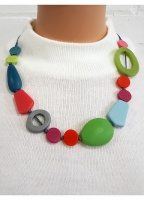 Mistral Mixed Shape Resin Necklace