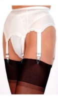 6 Strap Plain Suspender Belt