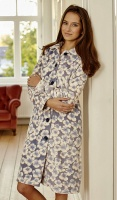 Ringella Floral Velour Button Housecoat