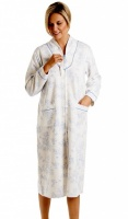 La Marquise Cotton Rich Mock Quilt Zip Housecoat