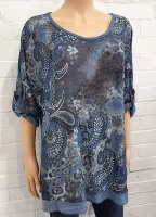 Minx Print Tunic with Scarf