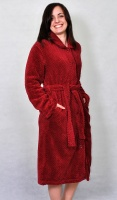 Waffle Fleece Button Housecoat