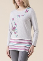 Emreco Floral And Stripe Top