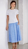 Emreco Elasticated Waist Cotton Rich Skirt
