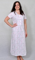 Pure Cotton Tuck Front Nightdress