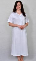 Pure Cotton Diamond Print Nightdress