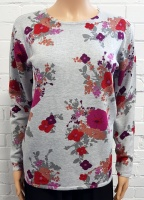Claudia C Grey Floral Jumper
