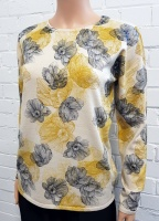 Claudia C Butterscotch Floral Print Jumper