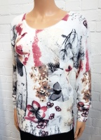 MudFlower Fluffy Floral Print Jumper