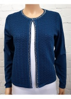 MudFlower Diamante Trim Cardigan