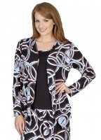 Circle Print 2 in 1 Long Sleeve Top