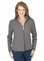 Stripe Zip Up Lightweight Jacket