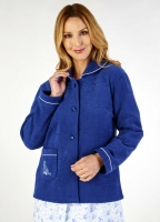 Slenderella Embroidered Fleece Towelling Bed Jacket