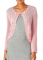 Slenderella 100% Cotton Knitted Bed Jacket