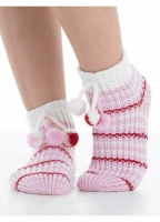 Slenderella Pom Pom Slipper Bed Sock